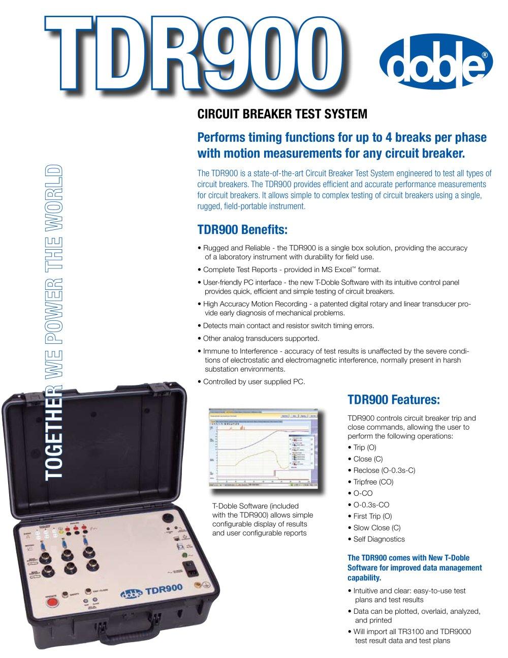 Tdr900 Doble Lemke Pdf Catalogue Technical Documentation Portable Circuit Breaker 1 2 Pages
