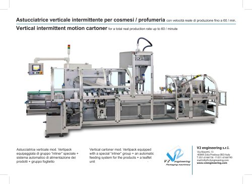Vertical intermittent motion cartoner