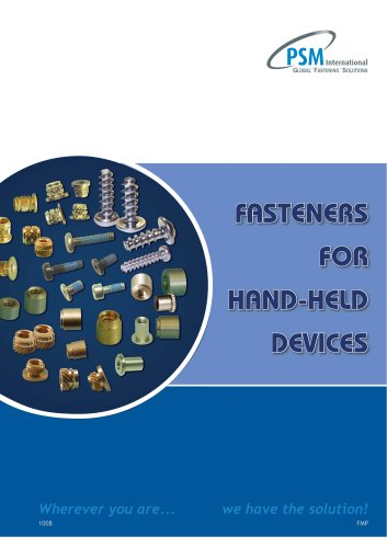 Fasteners For Hand-Held  Devices