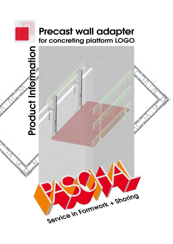 Precast wall adapter for concreting platform logo paschal werk g precast wall adapter for concreting platform logo 1 2 pages ccuart Images