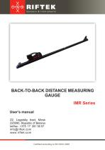 Back-to-back distance measurement gauge, IMR Series