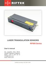 Large-base Laser Triangulation Sensor RF600.