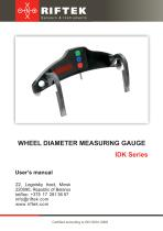 WHEEL DIAMETER MEASURING GAUGE. IDK Series