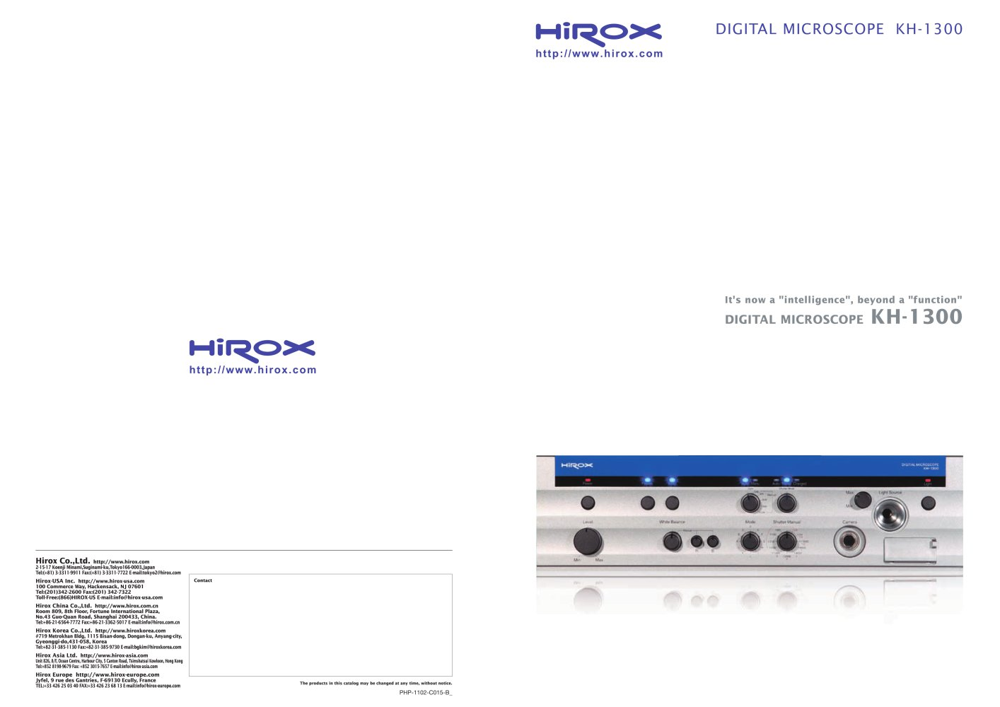 Digital microscope kh 1300 hirox europe pdf catalogue digital microscope kh 1300 1 6 pages ccuart Choice Image