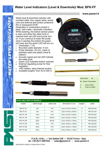 Water Level Indicators (Level & Downhole)/ Mod. BFK-FF