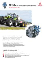 1013 The agricultural equipment engine