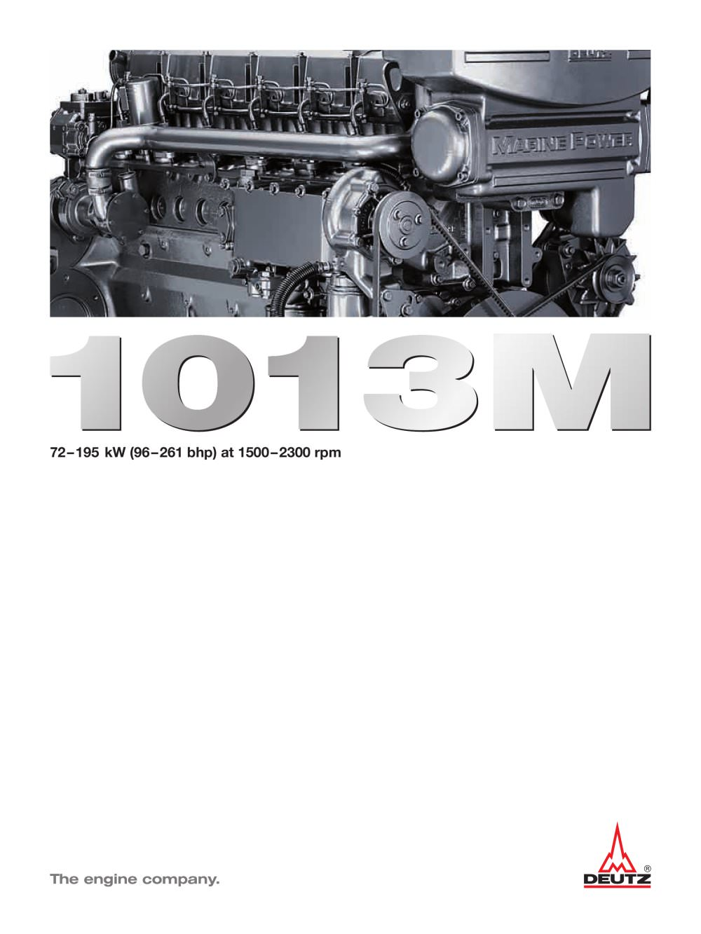 1013M The marine engine - 1 / 8 Pages
