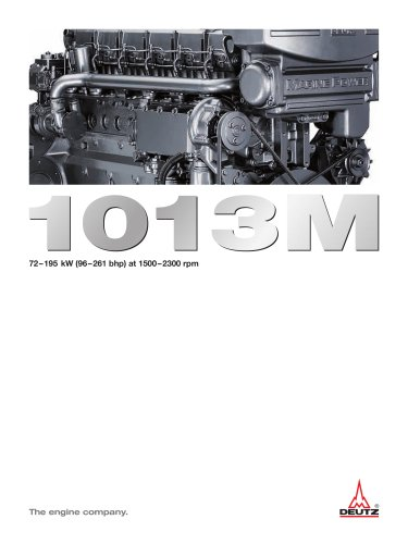 1013M The marine engine