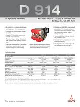 D 914 The agricultural equipment engine