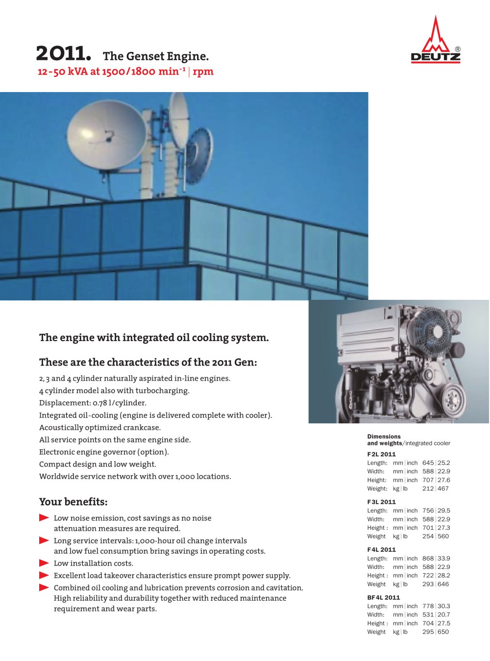 L 2011 The genset engine - 1 / 2 Pages