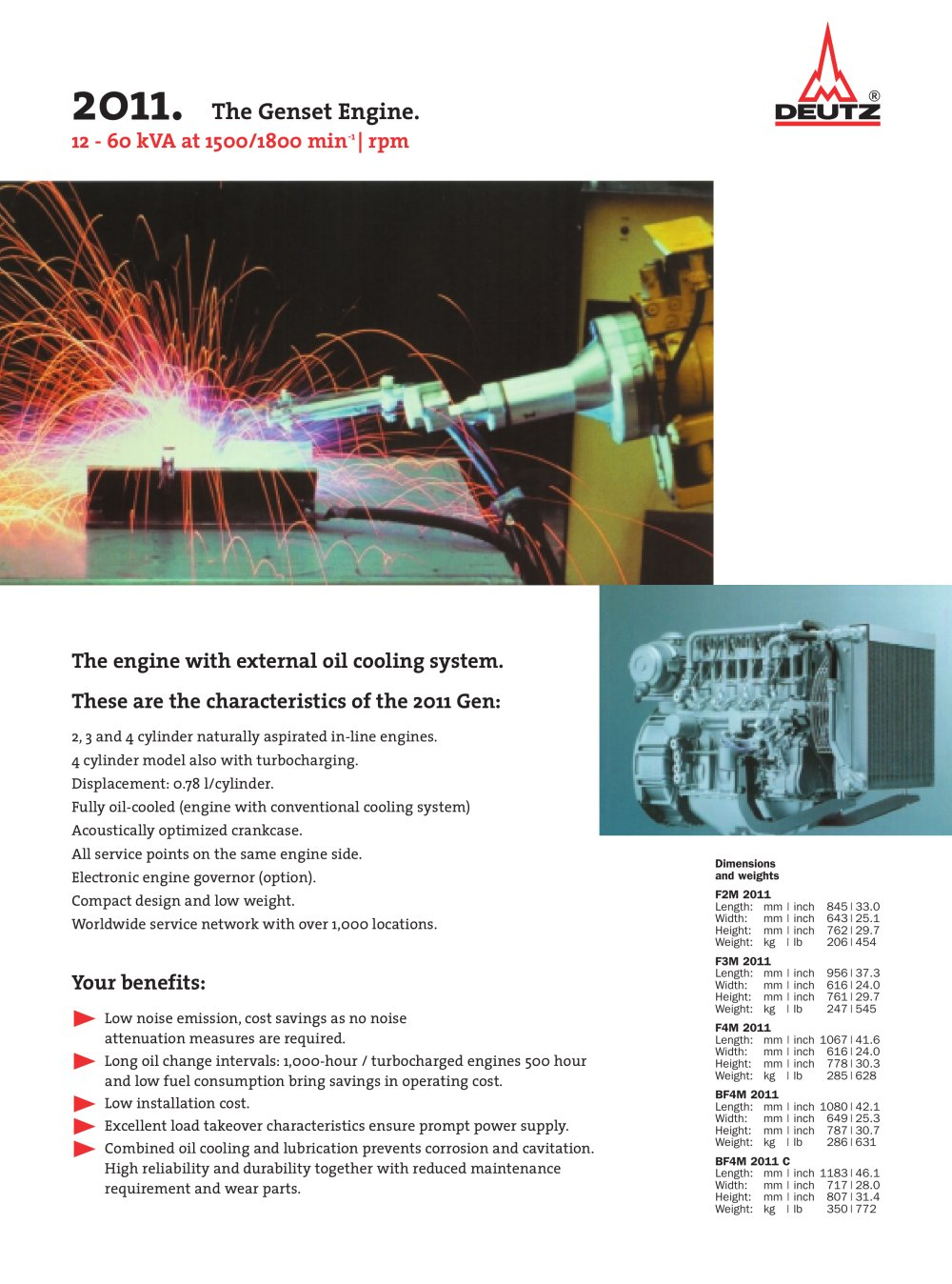 M 2011 The genset engine - 1 / 2 Pages