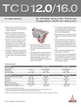 TCD 12.0 V6 Engine for Industrial Applications