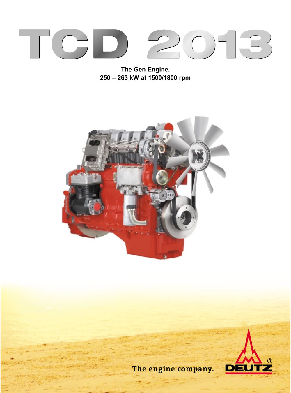 TCD 2013 The genset engine - 1 / 4 Pages
