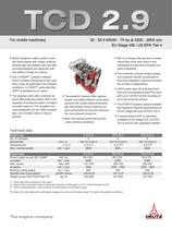 TCD 2.9 L4 Engine for Industrial Applications