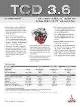 TCD 3.6 L4 Engine for Industrial Applications