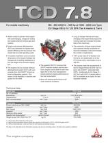 TCD 7.8 L6 Engine for Industrial Applications