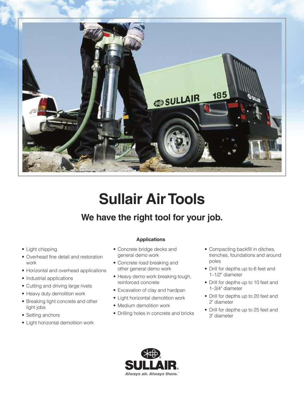 sullair 225h and 260 parts list