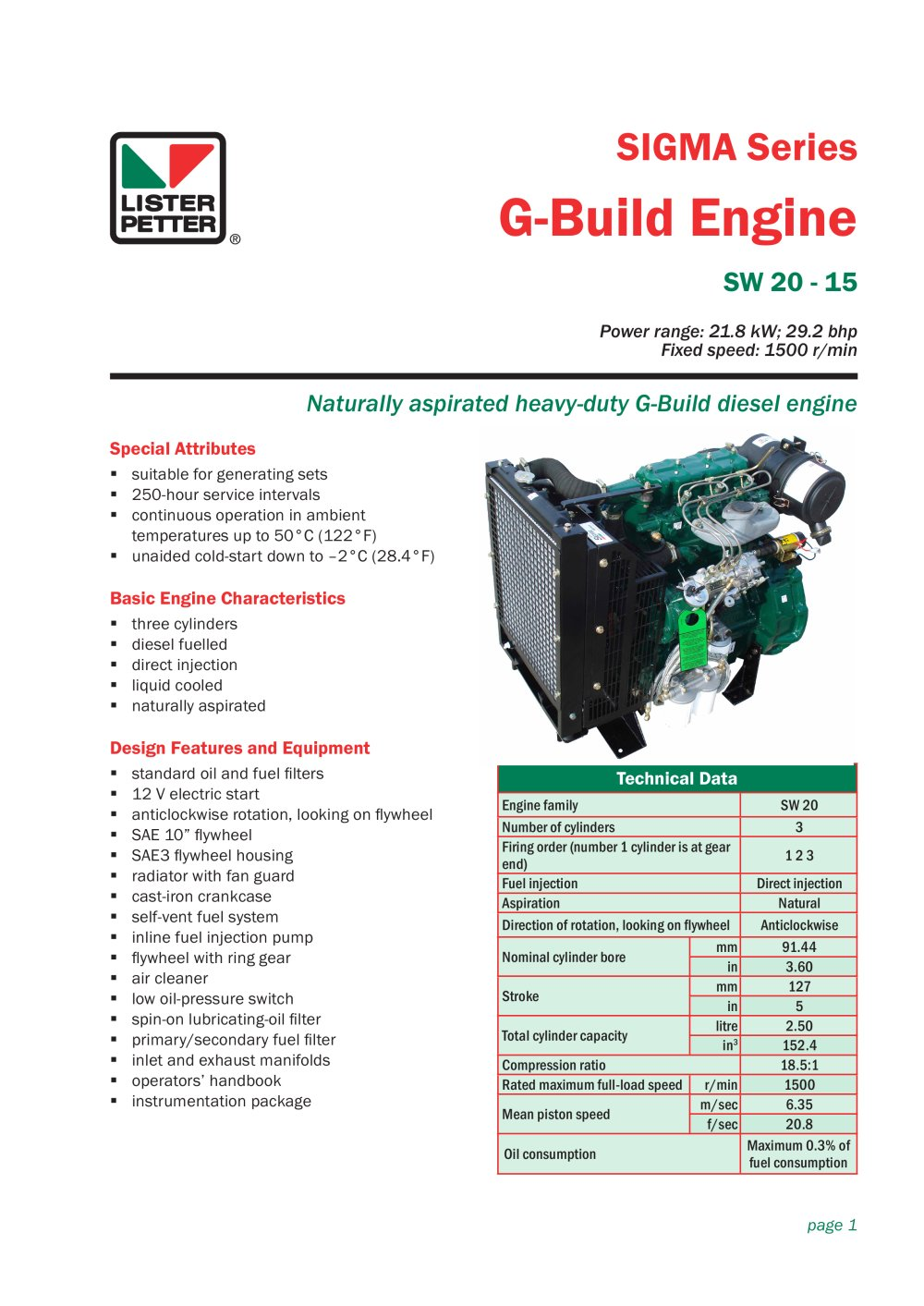 G Build Engine Lister Petter Pdf Catalogue Technical Diesel Inline Fuel Filter 1 2 Pages
