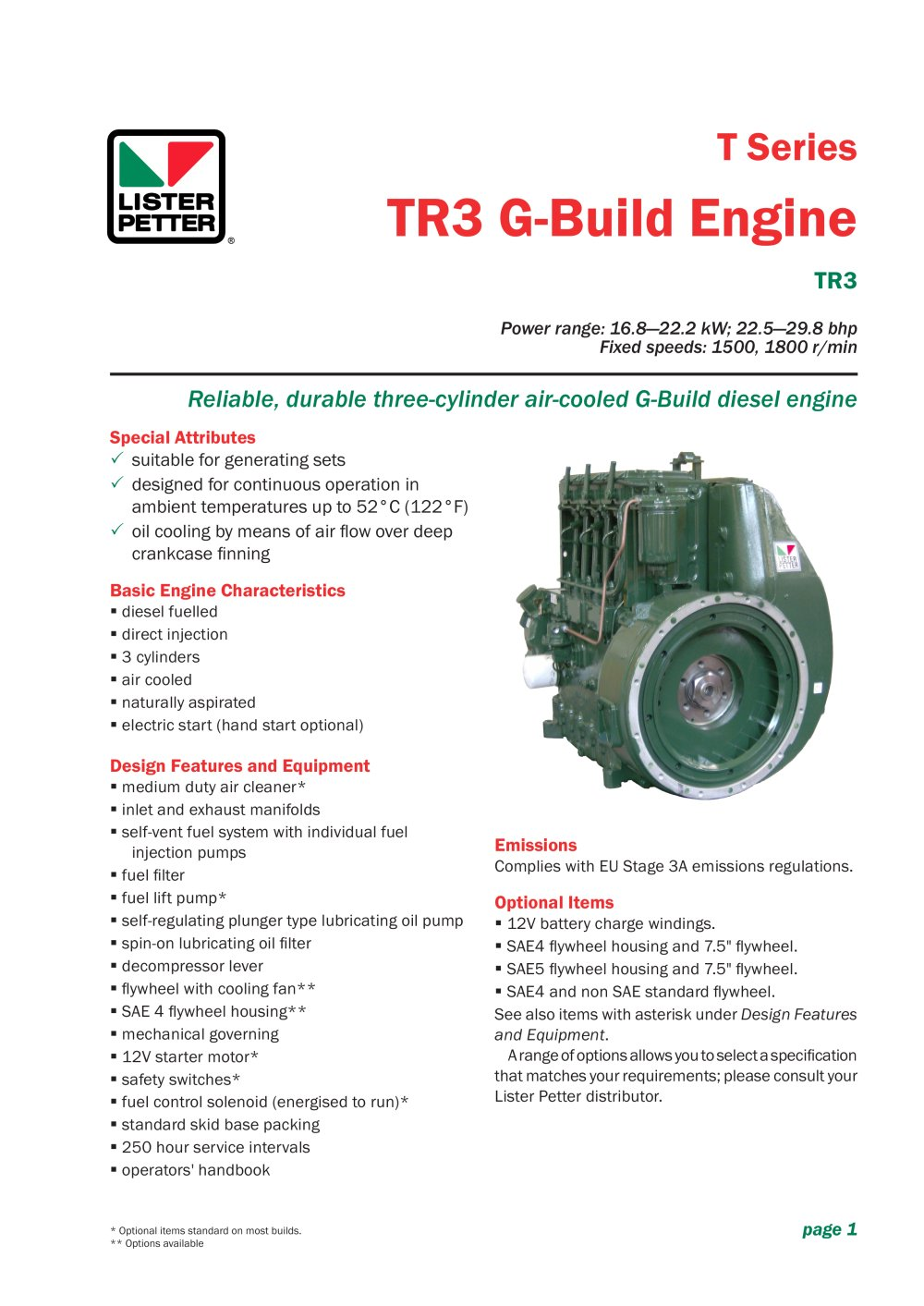 TR3 G-Build Engine - 1 / 2 Pages