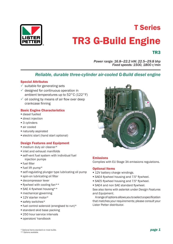 tr3 g build engine lister petter pdf catalogue technical rh pdf directindustry com lister tr2 manual lister tr2 manual