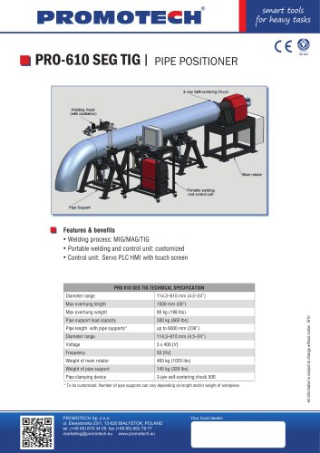 PRO 610 Multi axis welding positioners - Promotech - PDF