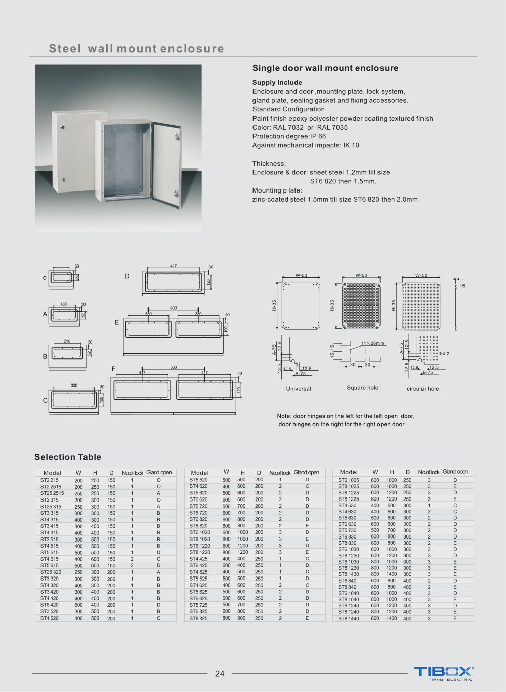 Amazing Standard Electrical Panel Sizes #10: TIBOX-steel Wall Mounting Enclosures-electrical Control Board Panel - 1 / 3  Pages