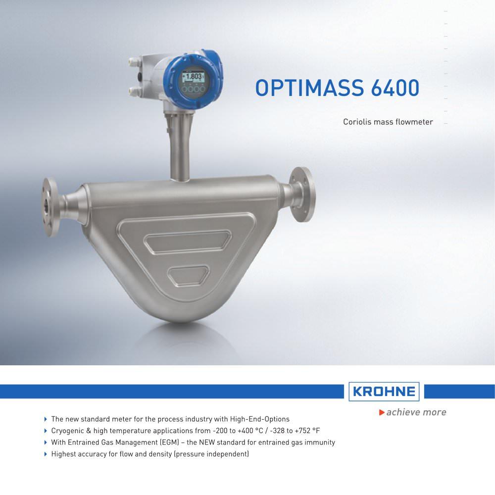 Optimass 6400 Krohne Messtechnik Pdf Catalogue Technical Converter Wiring Diagram 1 16 Pages