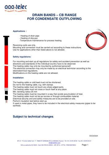 Condensate drain band CB