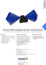Biconical broadband EMC antenna series BicoLOG&reg; (20MHz-3GHz)