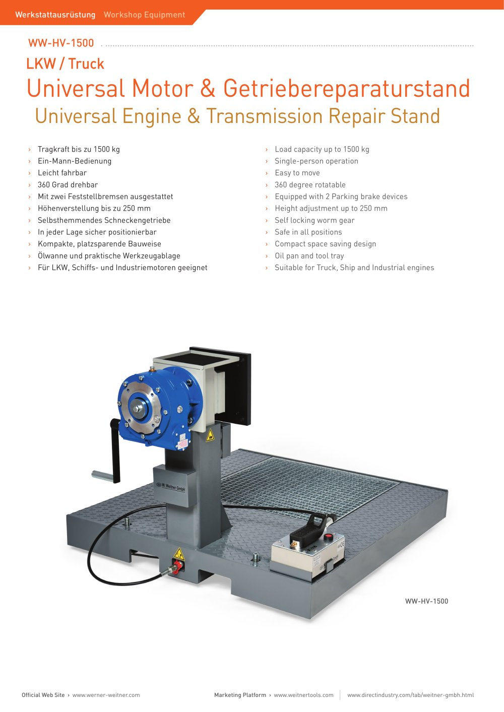 Universal engine transmission repair stand 1 1 2 pages