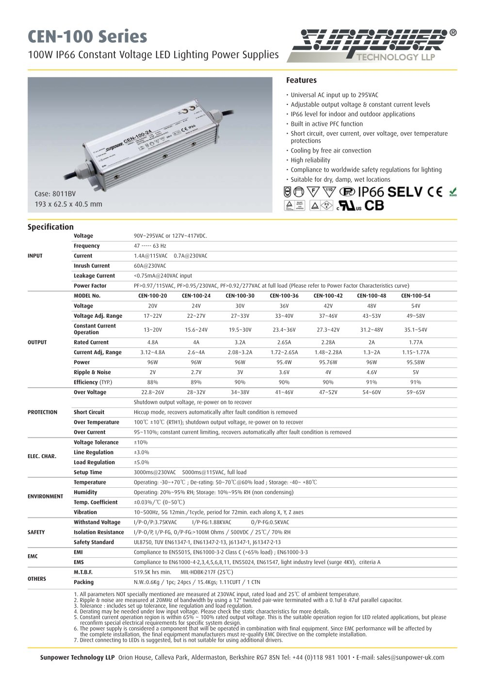 100w Ip66 Constant Voltage Led Lighting Power Supplies Sunpower Uk 24v Supply 65a Single Output 1 3 Pages
