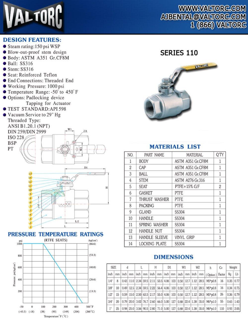 ball-valve-series-110 - Valtorc - PDF Catalogue | Technical ...