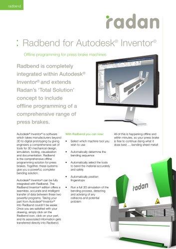 RADAN Radbend for Inventor