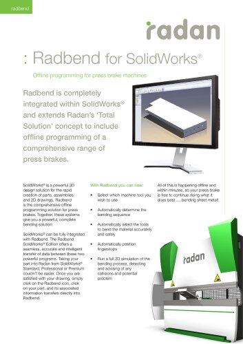 RADAN Radbend for Solid Works
