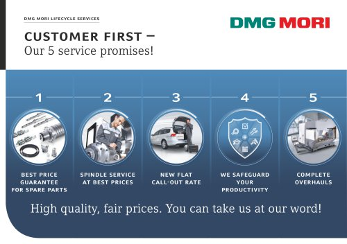CUSTOMER FIRST - DMG MORI - PDF Catalogs | Technical