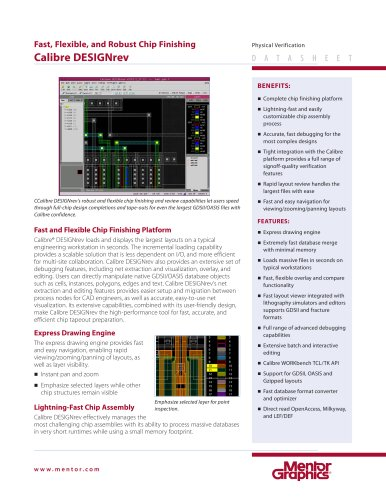 Calibre DESIGNrev - Mentor Graphics - PDF Catalogs | Technical