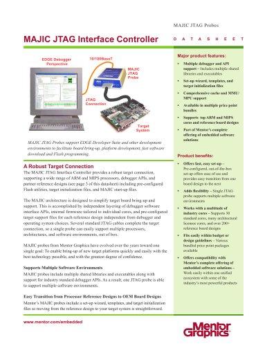 MAJIC JTAG Probe - Mentor Graphics - PDF Catalogs | Technical