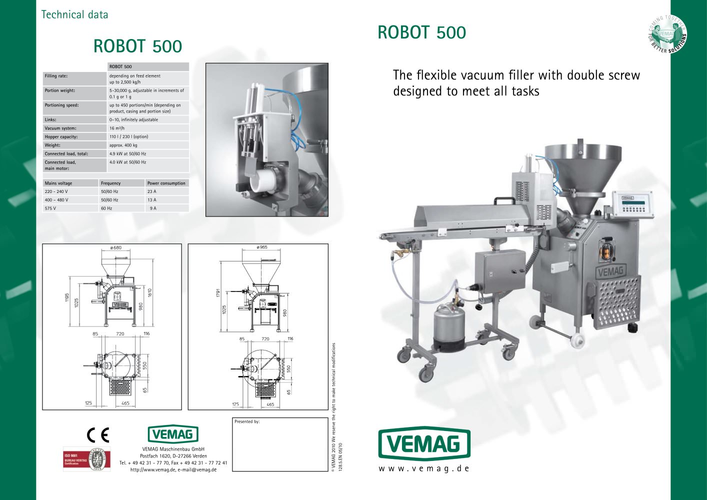 robot 500 vemag pdf catalogue technical documentation brochure rh pdf directindustry com Vemag Equipment Vemag Operation