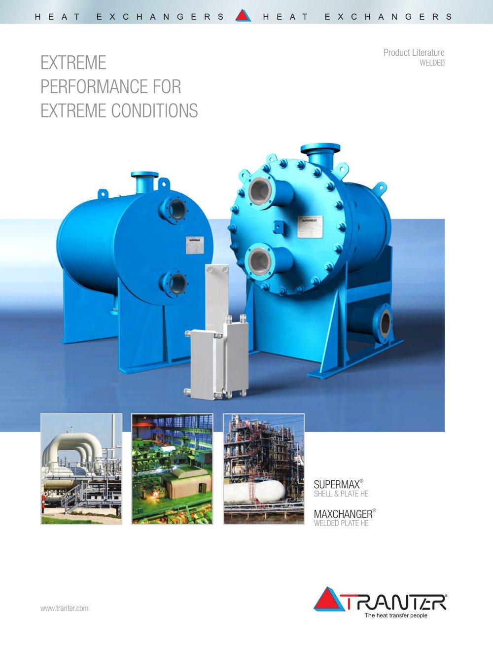 Welded Plate Heat Exchanger Brochure - Tranter - PDF Catalogue ...