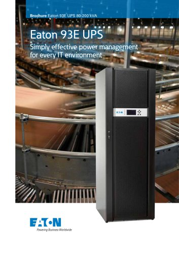 Eaton 93E UPS 80-200kVA - Powerware - PDF Catalogs | Technical
