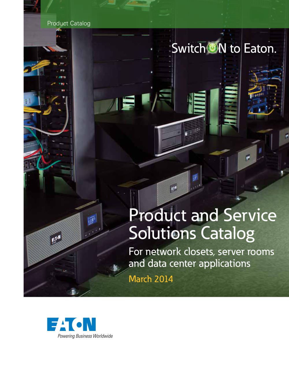 Product and Service Solutions Catalog For network closets, server ...