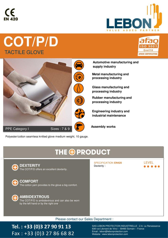 Cot P D Lebon Pdf Catalogue Technical Documentation Brochure