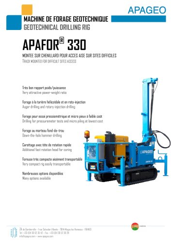 APAFOR 330 - Geotechnical drilling rig