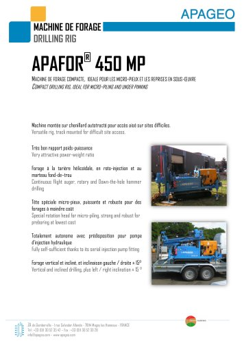 APAFOR 440 and 450
