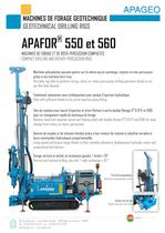 APAFOR 550 and 560 - Geotechniqcal drilling rigs