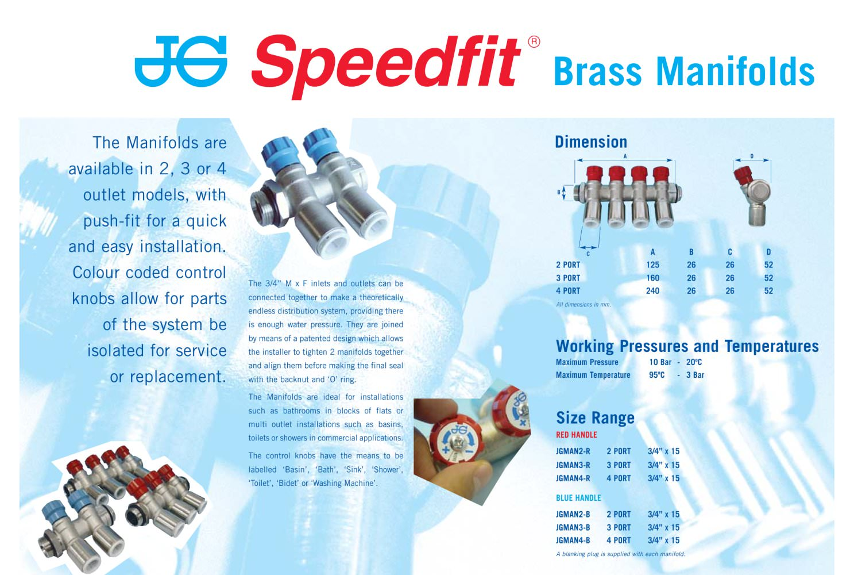 JG Speedfit® Brass Manifolds Leaflet - JOHN GUEST - PDF Catalogue ...