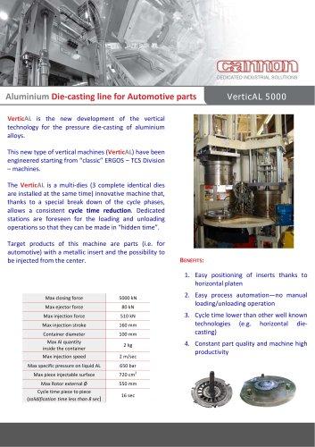 Vertical diecasting machine - Cannon Group - PDF Catalogs