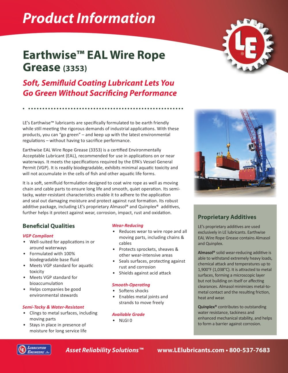 Earthwise™ EAL Wire Rope Grease (3353) - Lubrication Engineers - PDF ...
