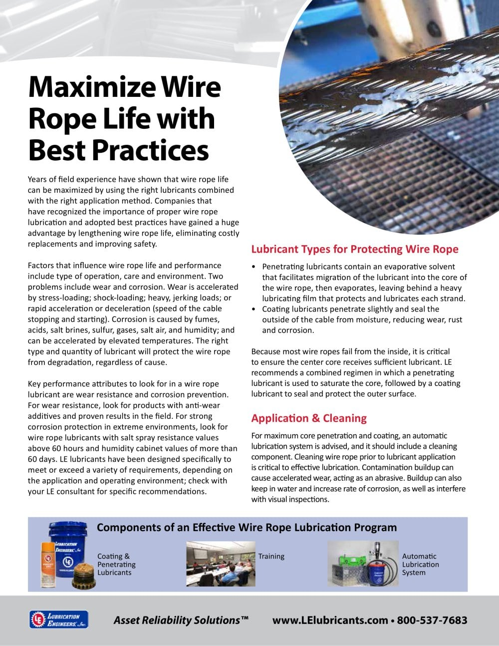 Maximize Wire Rope Life with Best Practices - Lubrication Engineers ...