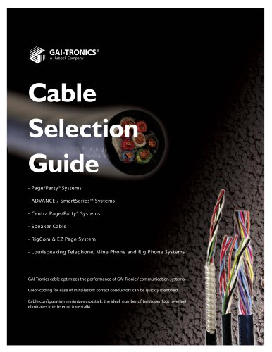 Cable Selection Guide
